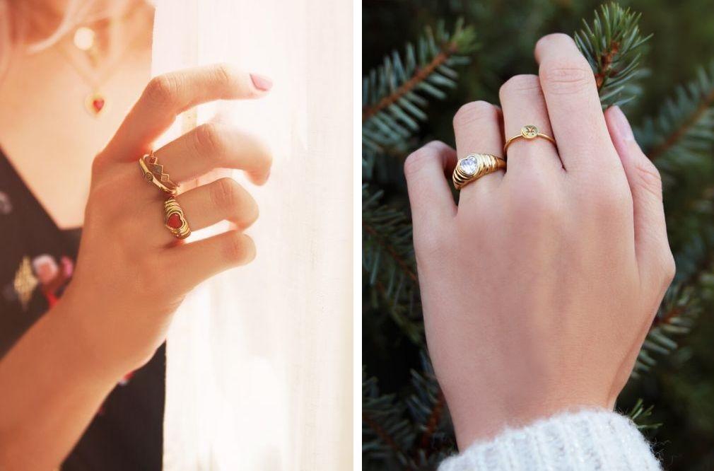 Ringen met steentje
